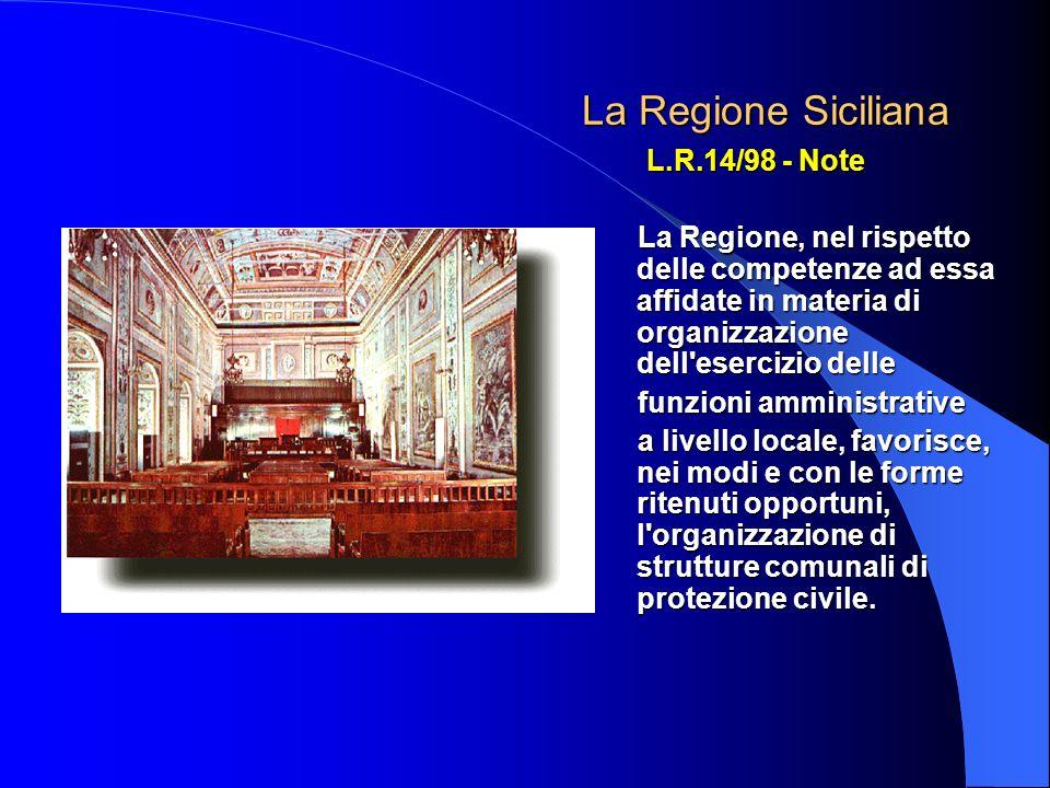 La Regione Siciliana L.R.14/98 - Note