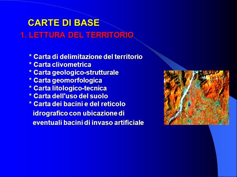 CARTE DI BASE 1. LETTURA DEL TERRITORIO.