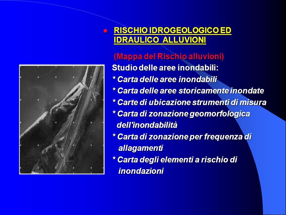 RISCHIO IDROGEOLOGICO ED IDRAULICO ALLUVIONI