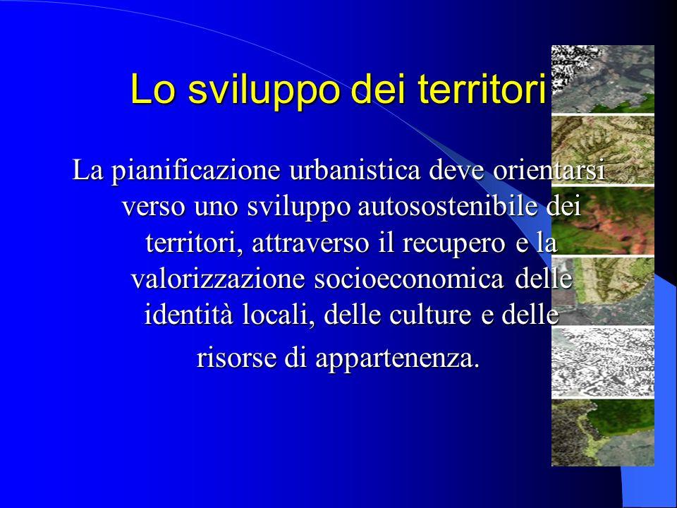 Lo sviluppo dei territori