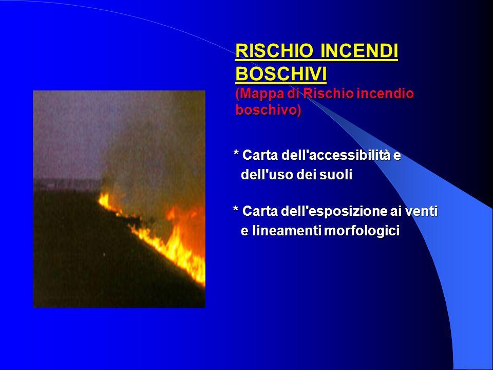 RISCHIO INCENDI BOSCHIVI (Mappa di Rischio incendio boschivo)