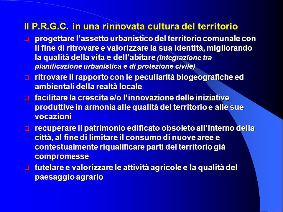 Il P.R.G.C. in una rinnovata cultura del territorio