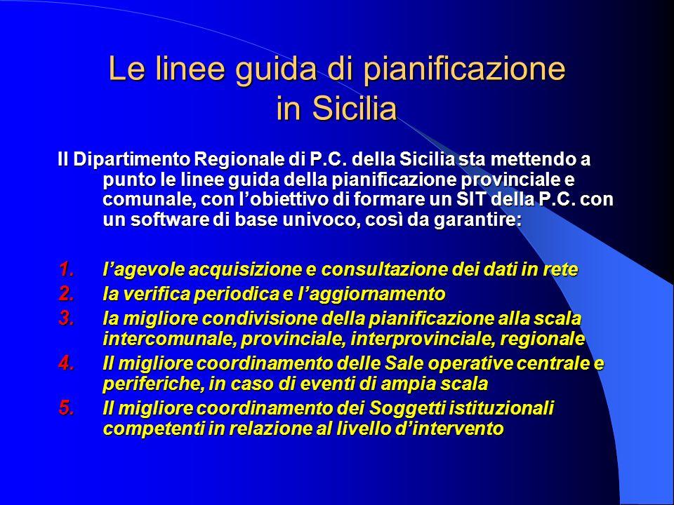 Le linee guida di pianificazione in Sicilia