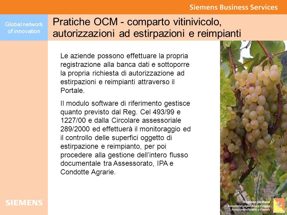 Pratiche OCM - comparto vitinivicolo, autorizzazioni ad estirpazioni e reimpianti