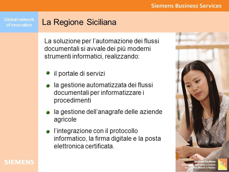 La Regione Siciliana La soluzione per l'automazione dei flussi documentali si avvale dei più moderni strumenti informatici, realizzando:
