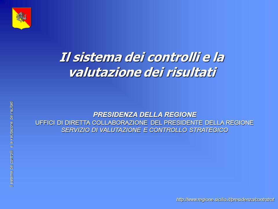 Il sistema dei controlli e la valutazione dei risultati