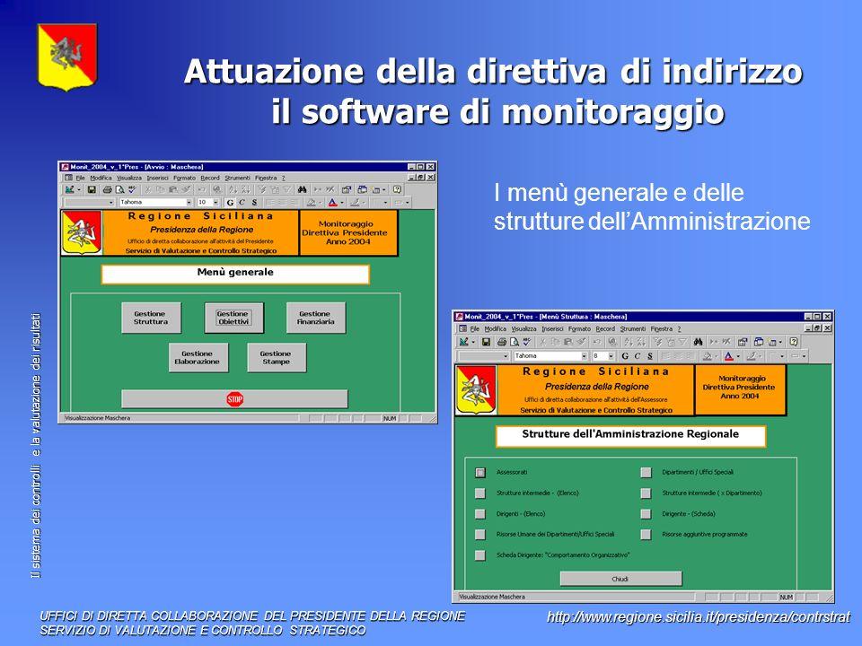 Attuazione della direttiva di indirizzo il software di monitoraggio