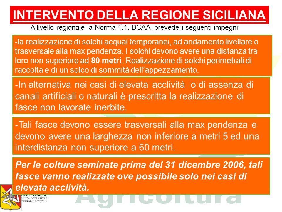 INTERVENTO DELLA REGIONE SICILIANA