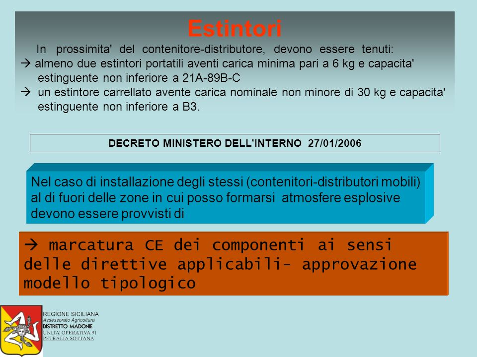 DECRETO MINISTERO DELL'INTERNO 27/01/2006