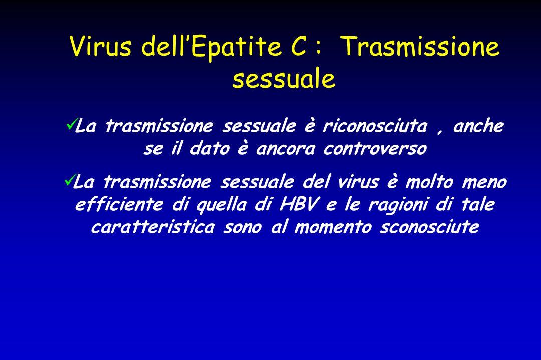 Virus dell'Epatite C : Trasmissione sessuale