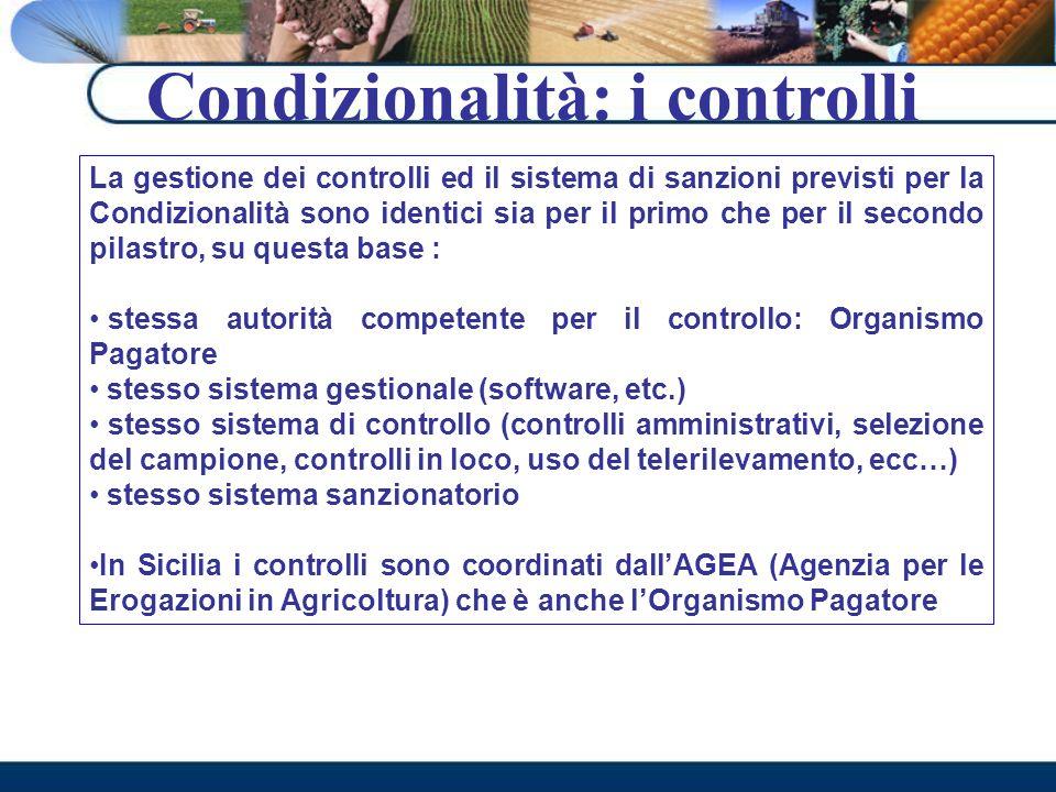 Condizionalità: i controlli