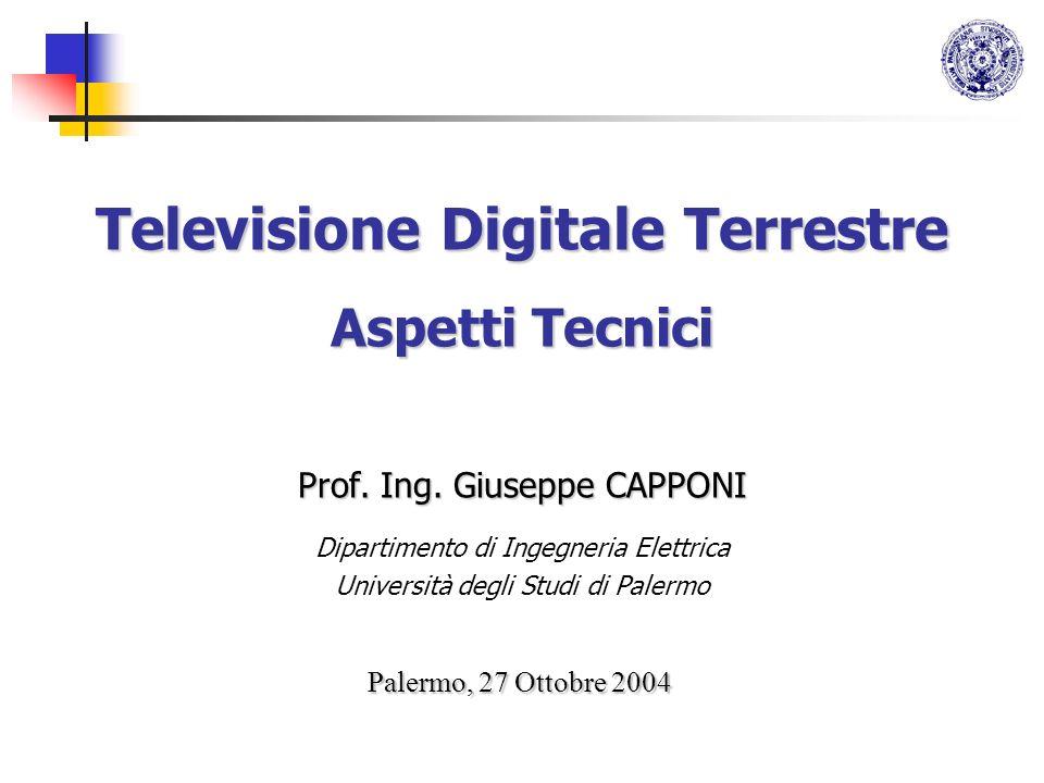 Televisione Digitale Terrestre Aspetti Tecnici