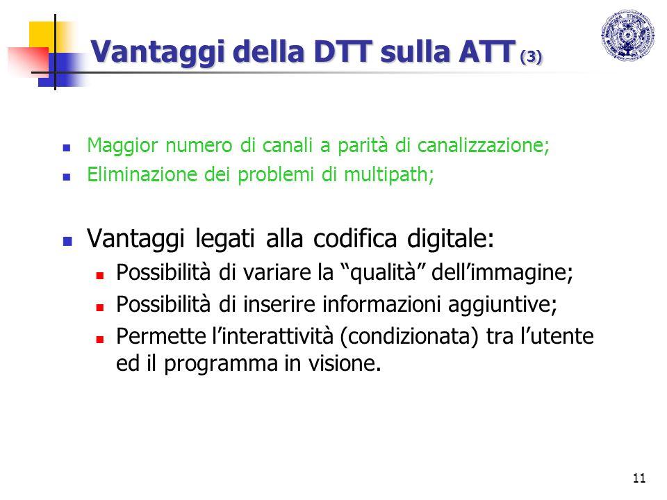 Vantaggi della DTT sulla ATT (3)