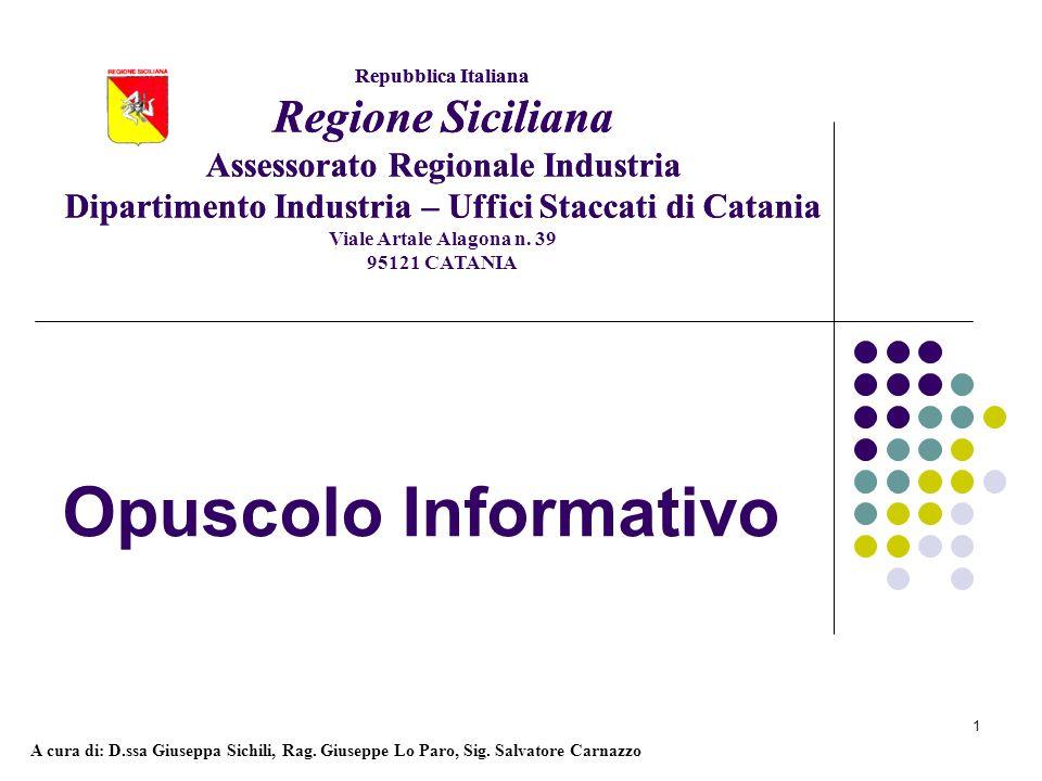 Opuscolo Informativo Regione Siciliana Regione Siciliana