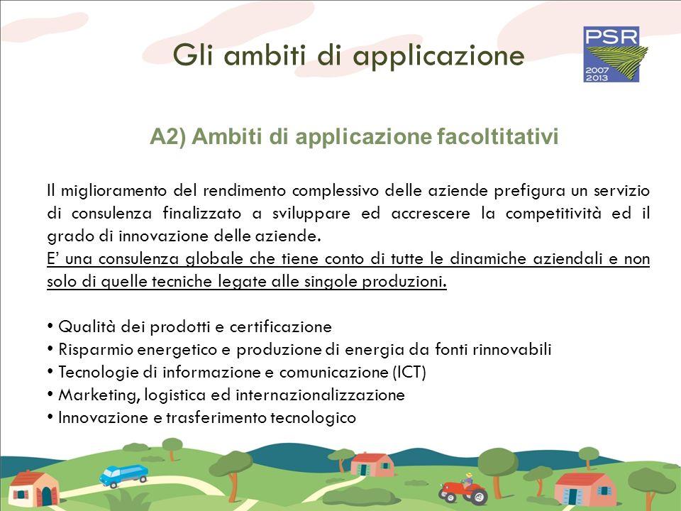 A2) Ambiti di applicazione facoltitativi