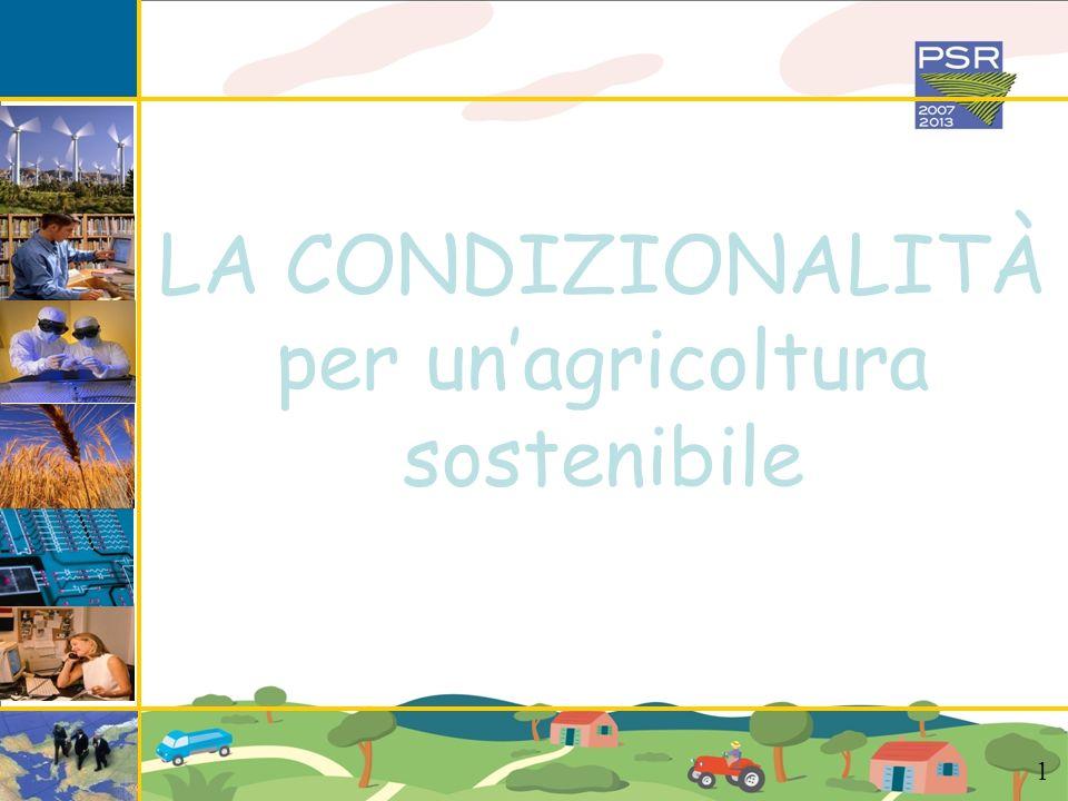per un'agricoltura sostenibile