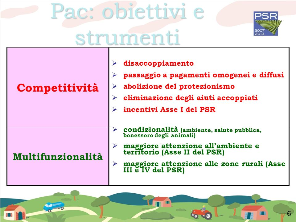 Pac: obiettivi e strumenti