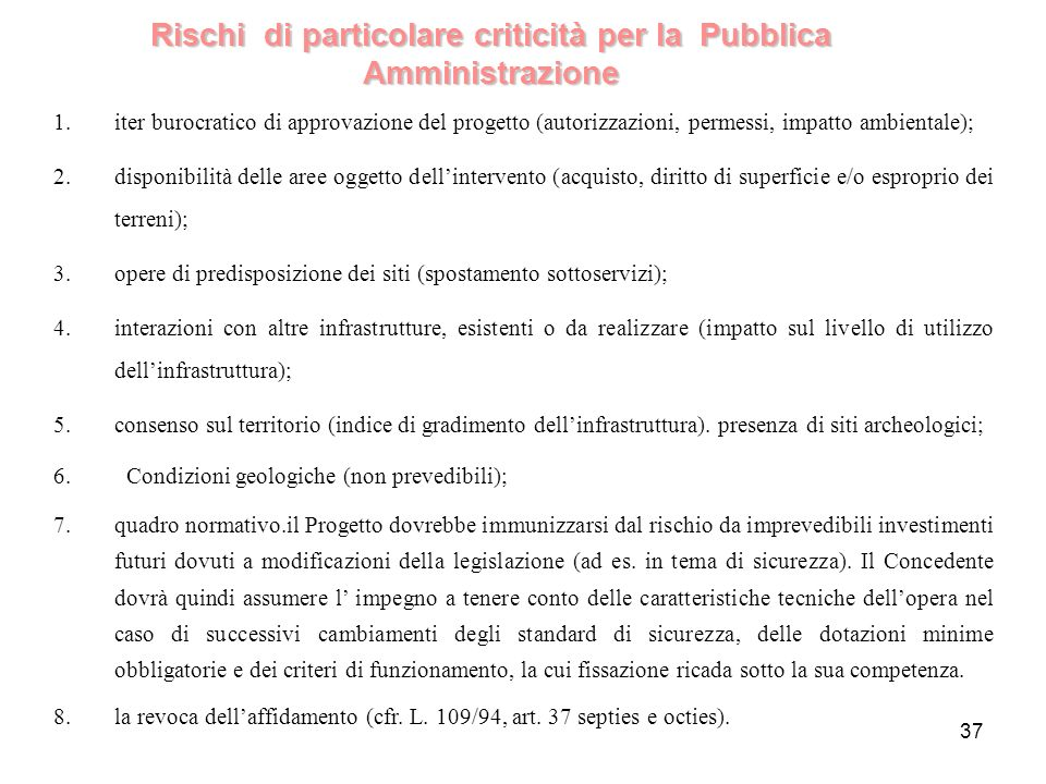 Rischi di particolare criticità per la Pubblica Amministrazione