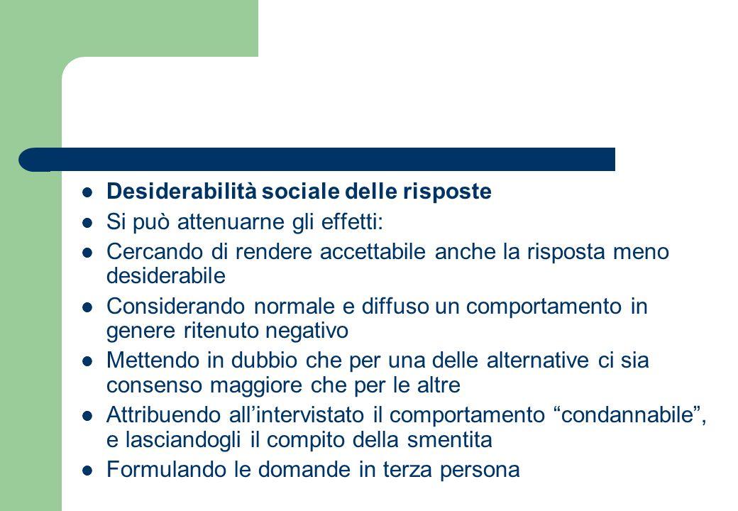 Desiderabilità sociale delle risposte