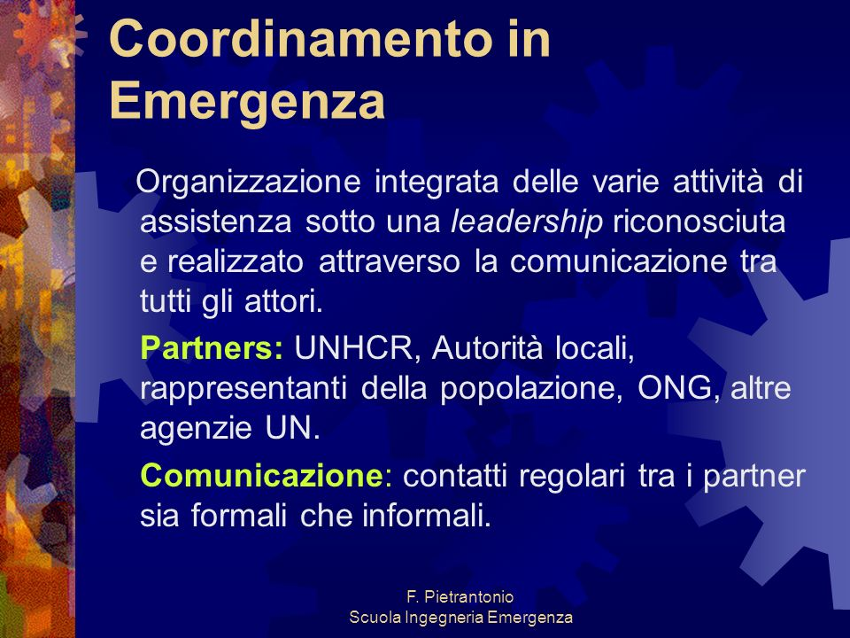 Coordinamento in Emergenza
