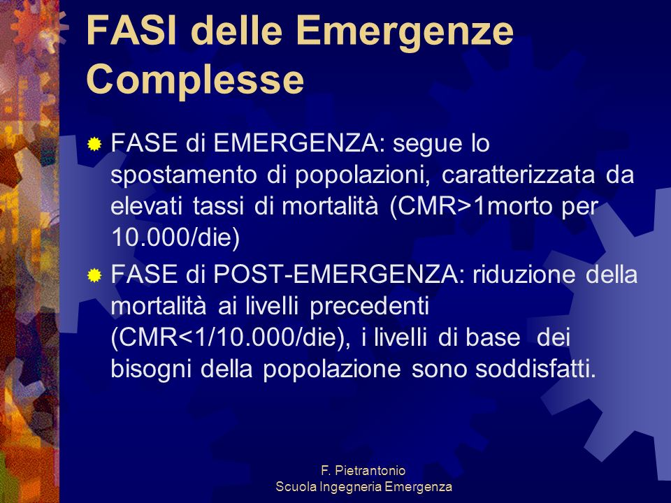 FASI delle Emergenze Complesse