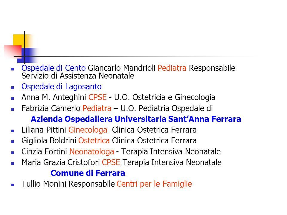 Ospedale di Cento Giancarlo Mandrioli Pediatra Responsabile Servizio di Assistenza Neonatale