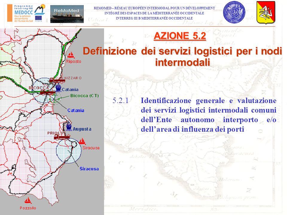Definizione dei servizi logistici per i nodi intermodali