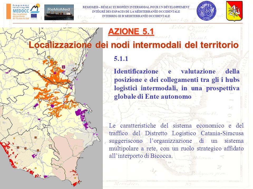 Localizzazione dei nodi intermodali del territorio