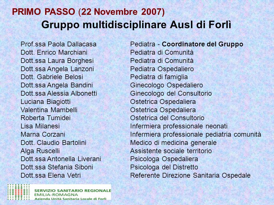 Gruppo multidisciplinare Ausl di Forlì