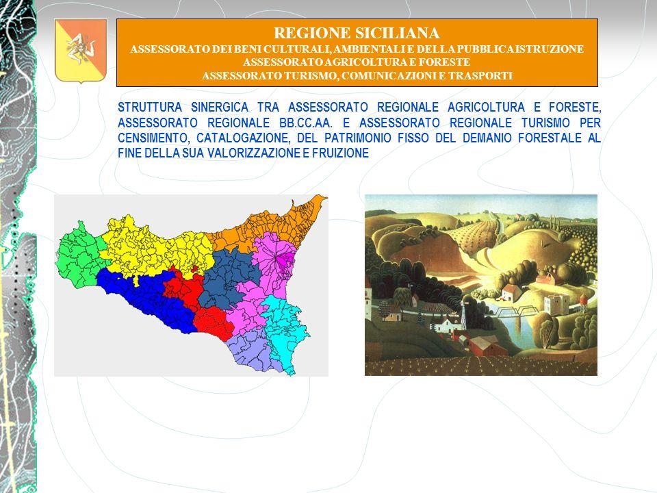REGIONE SICILIANA ASSESSORATO DEI BENI CULTURALI, AMBIENTALI E DELLA PUBBLICA ISTRUZIONE. ASSESSORATO AGRICOLTURA E FORESTE.