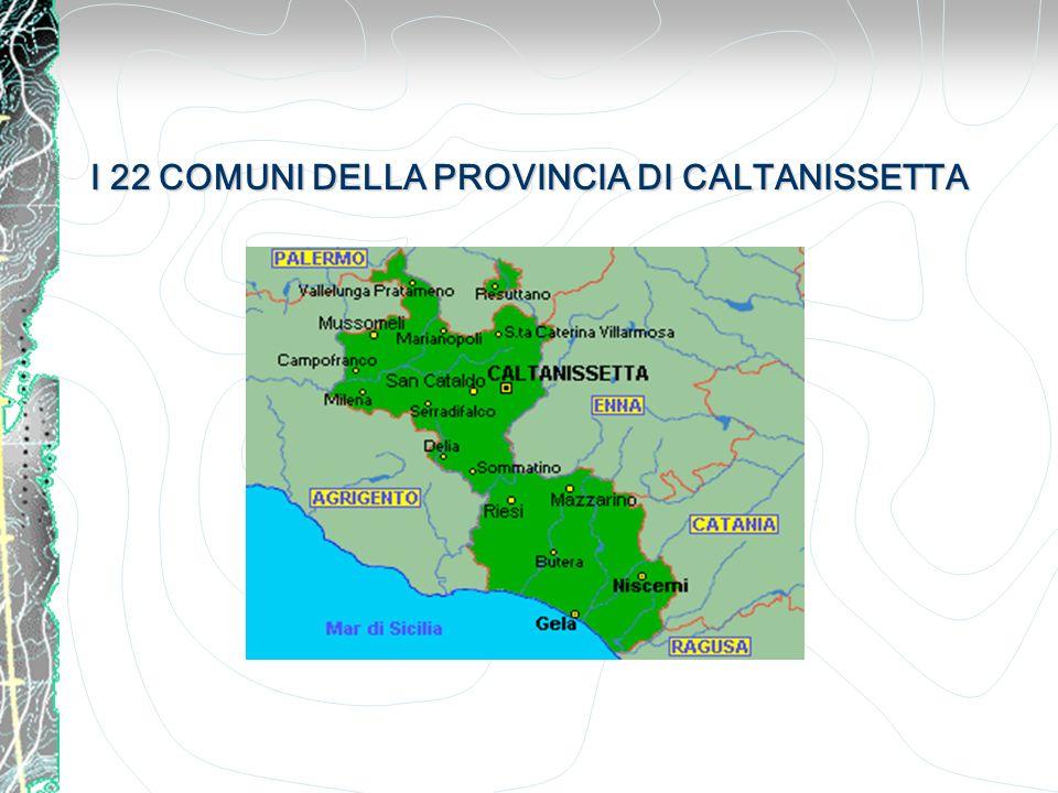 I 22 COMUNI DELLA PROVINCIA DI CALTANISSETTA