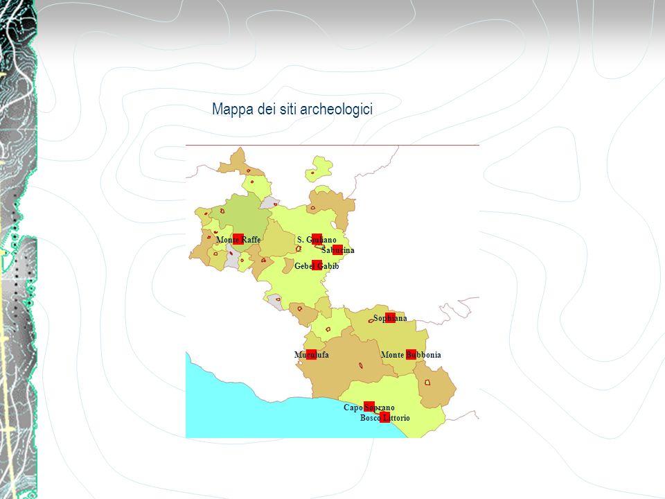 Mappa dei siti archeologici