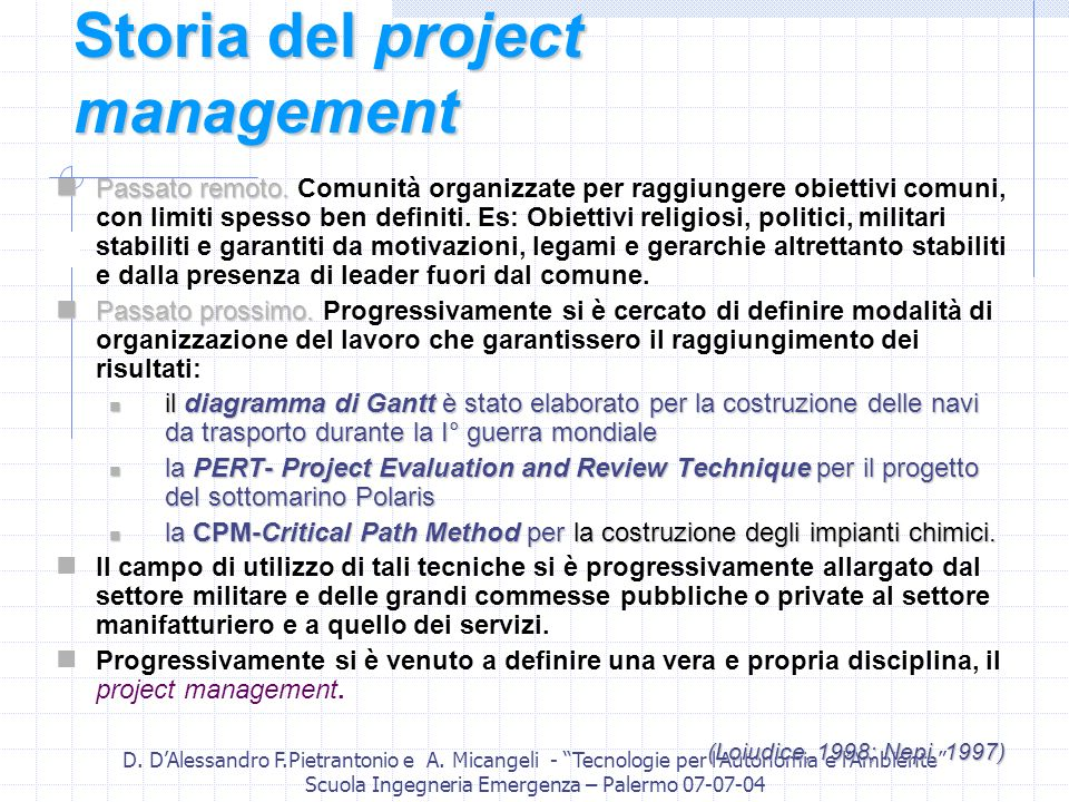 Storia del project management