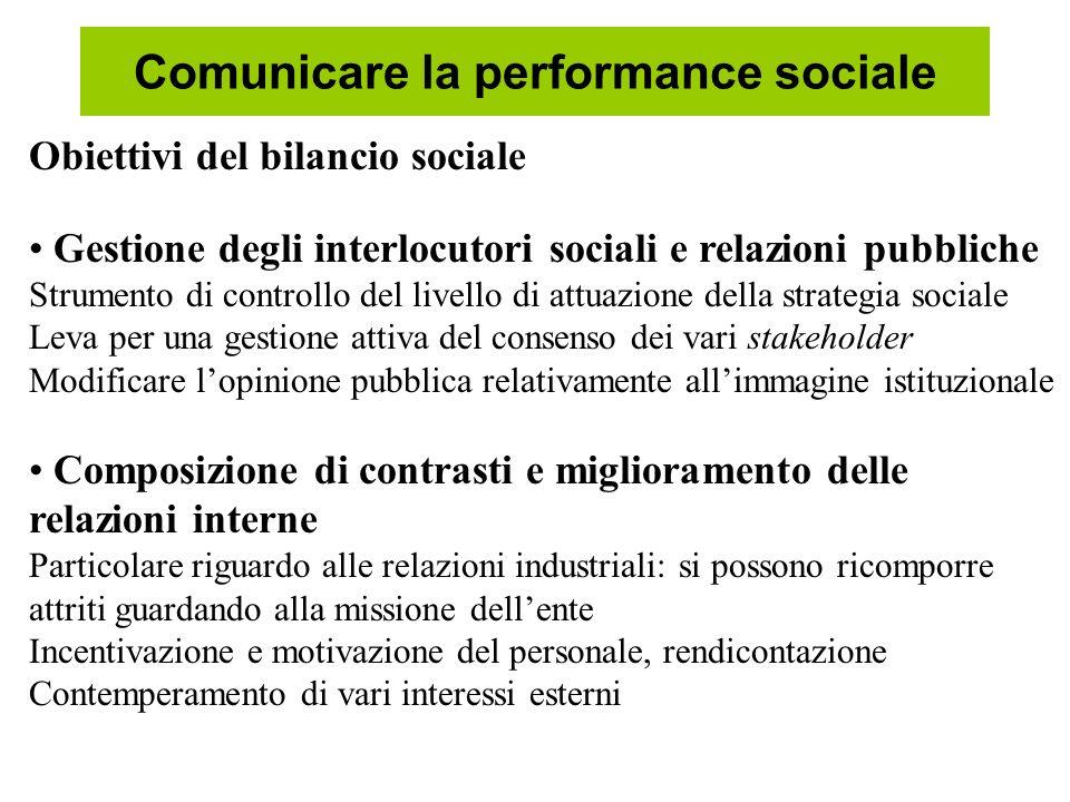 Comunicare la performance sociale