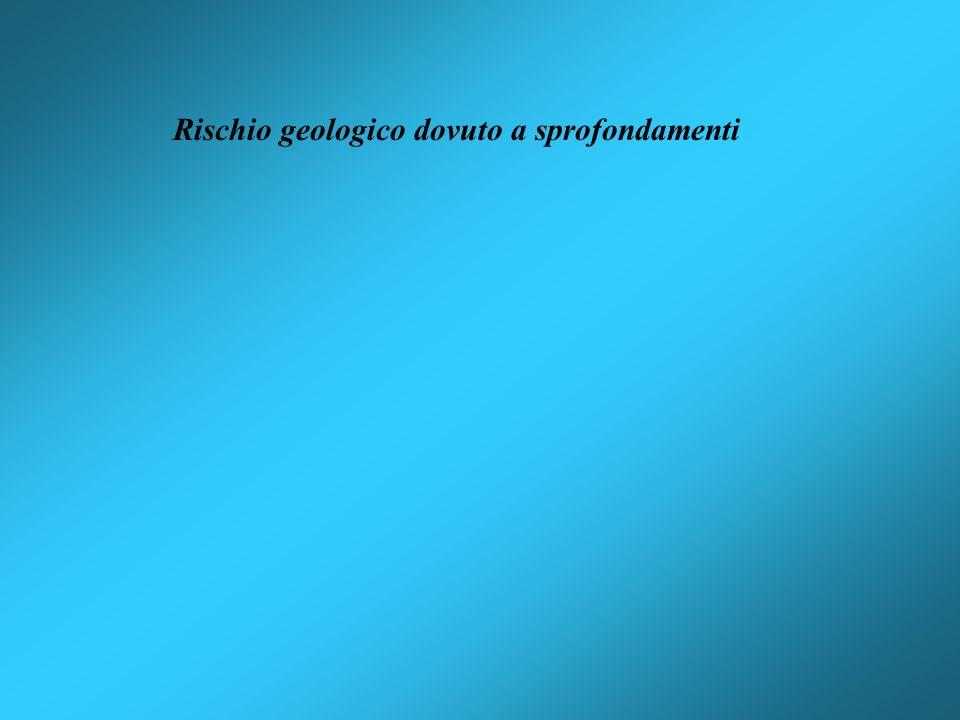 Rischio geologico dovuto a sprofondamenti
