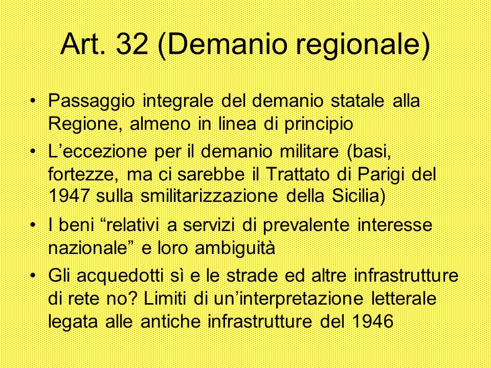 Art. 32 (Demanio regionale)‏