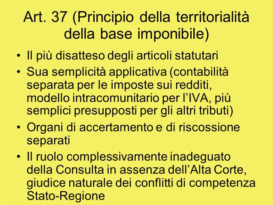 Art. 37 (Principio della territorialità della base imponibile)