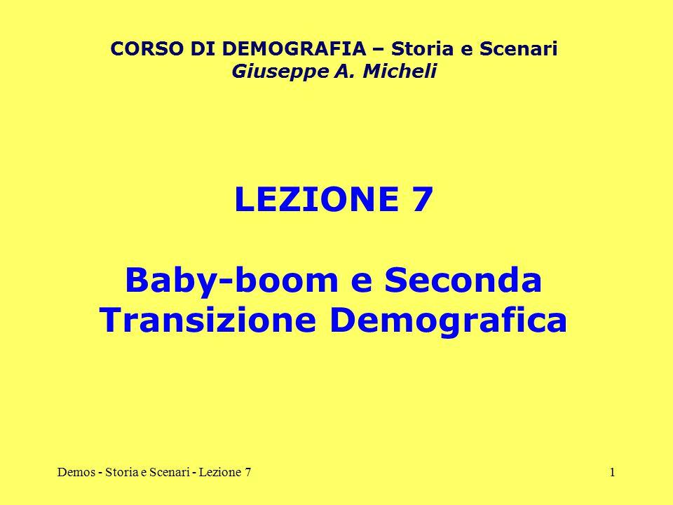 LEZIONE 7 Baby-boom e Seconda Transizione Demografica