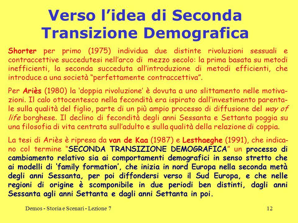 Verso l'idea di Seconda Transizione Demografica