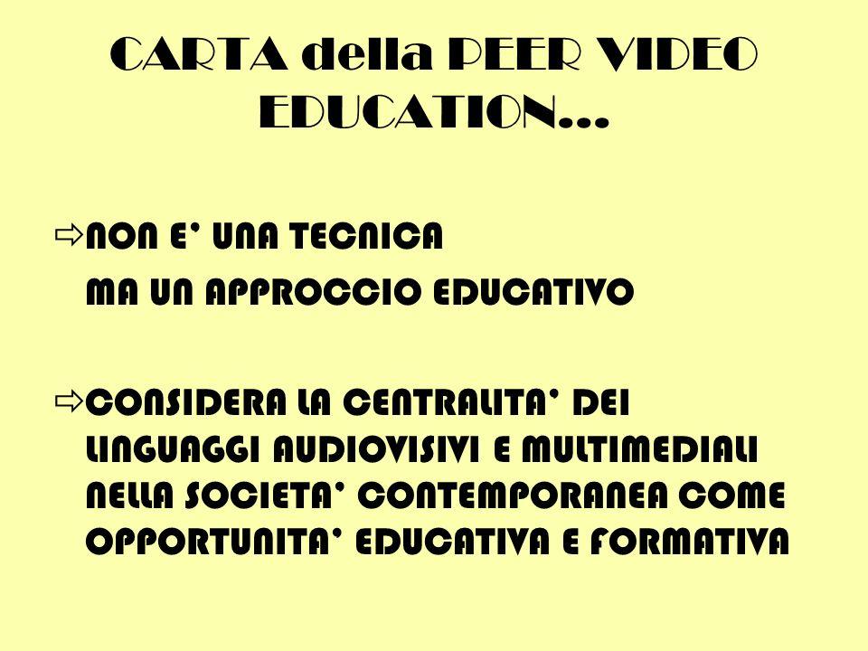 CARTA della PEER VIDEO EDUCATION...
