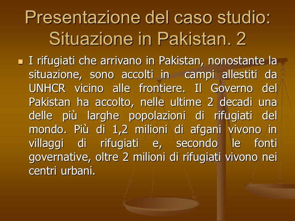 Presentazione del caso studio: Situazione in Pakistan. 2