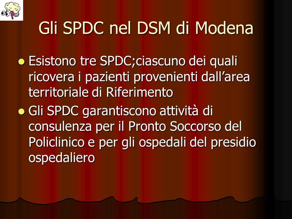 Gli SPDC nel DSM di Modena