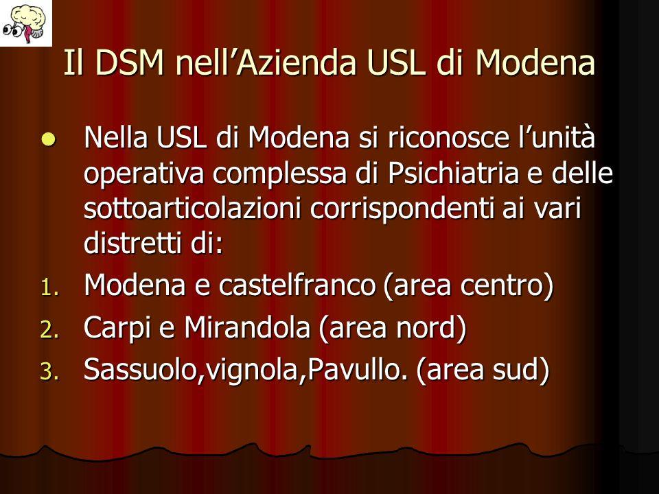 Il DSM nell'Azienda USL di Modena