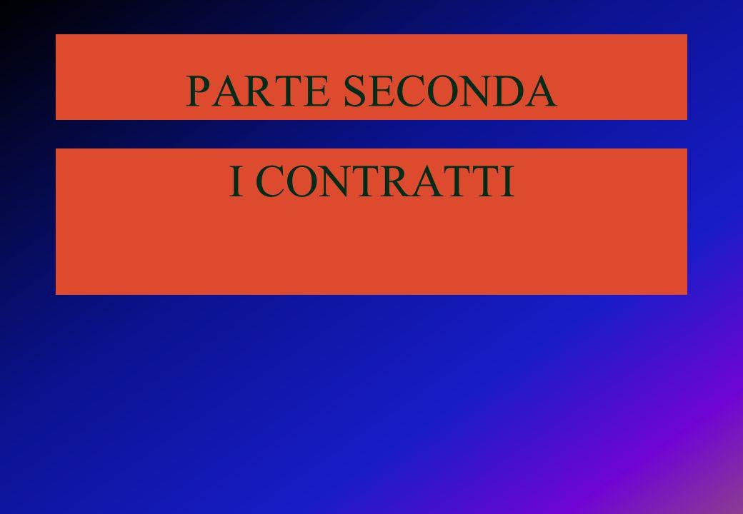 PARTE SECONDA I CONTRATTI