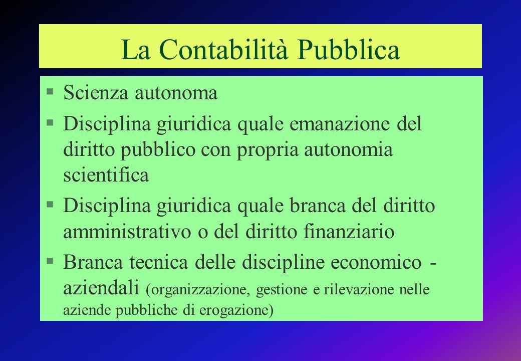 La Contabilità Pubblica