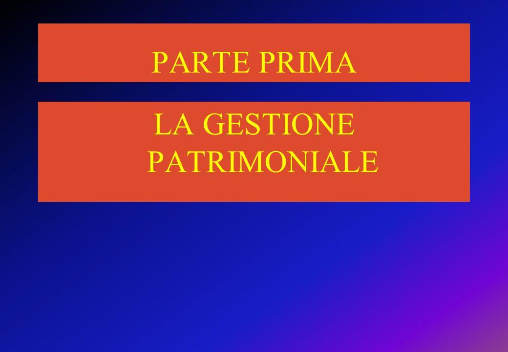 LA GESTIONE PATRIMONIALE