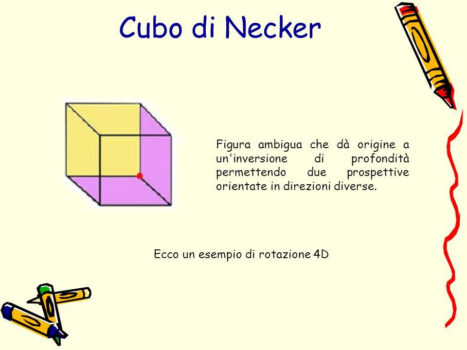 Cubo di Necker Figura ambigua che dà origine a un inversione di profondità permettendo due prospettive orientate in direzioni diverse.