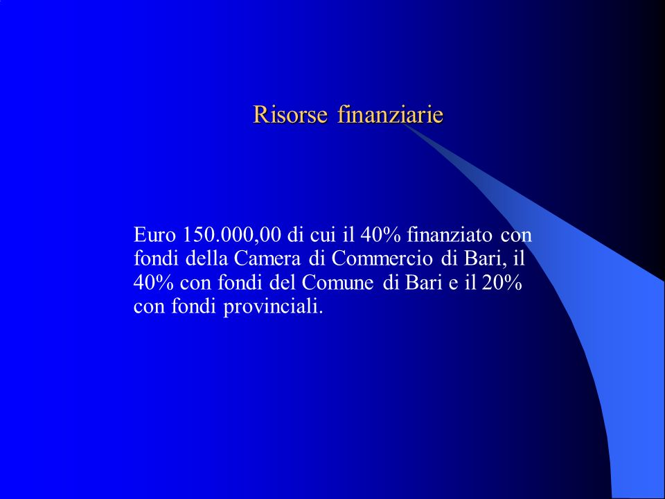 Risorse finanziarie