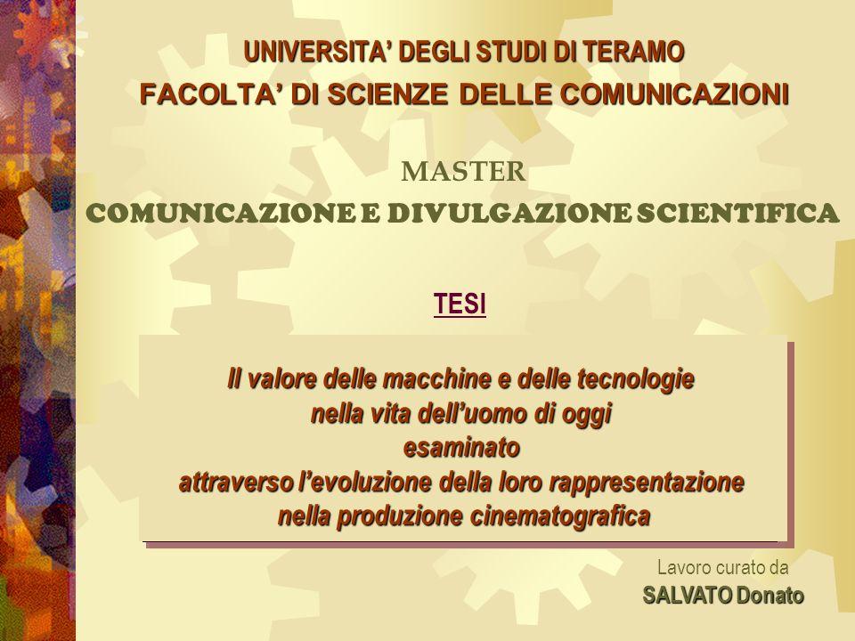 MASTER COMUNICAZIONE E DIVULGAZIONE SCIENTIFICA