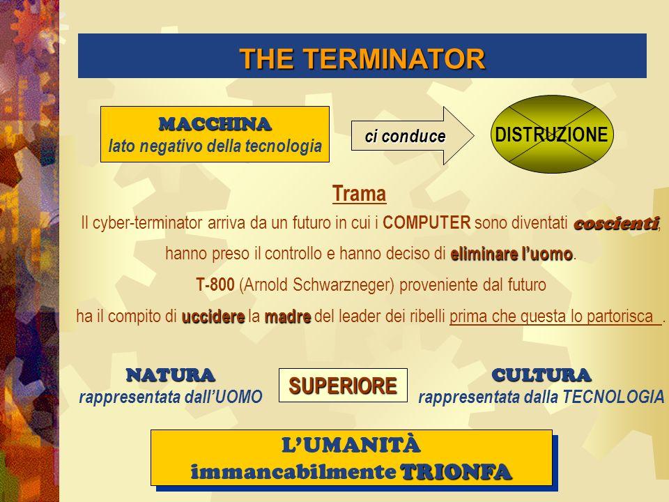 THE TERMINATOR Trama SUPERIORE L'UMANITÀ immancabilmente TRIONFA